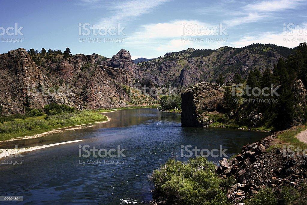Gateway to the Rockies stock photo