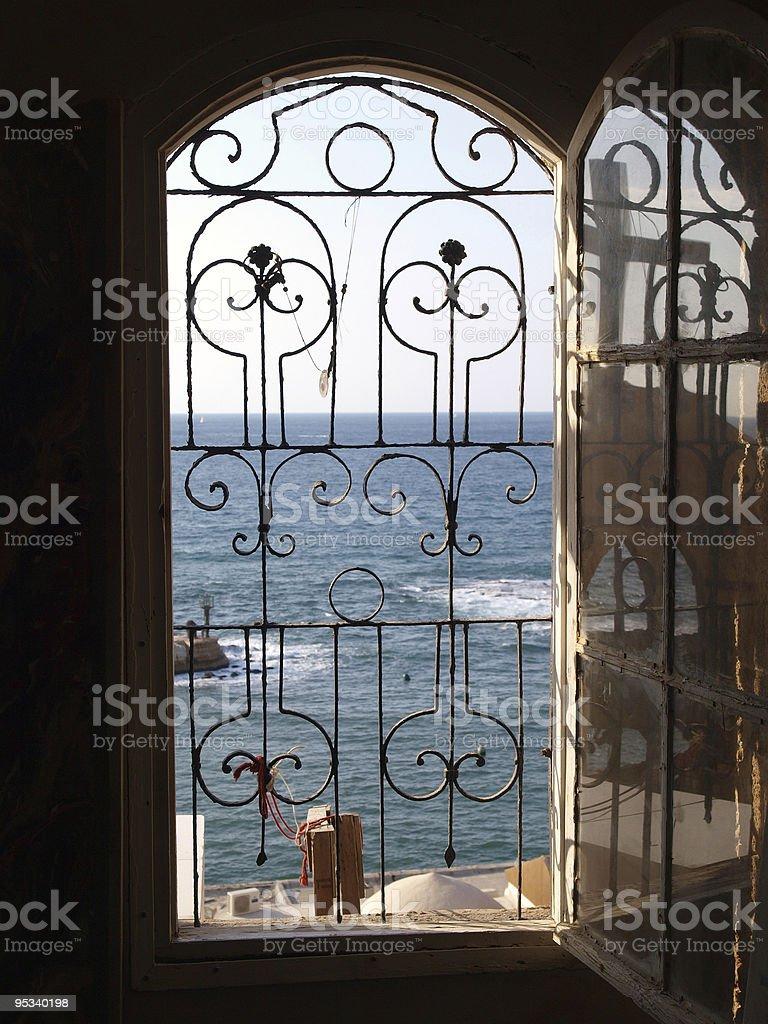 Gateway to the sea ocean view royalty-free stock photo