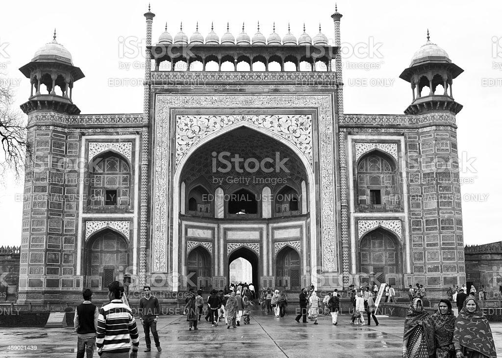 Gateway to the Taj Mahal stock photo