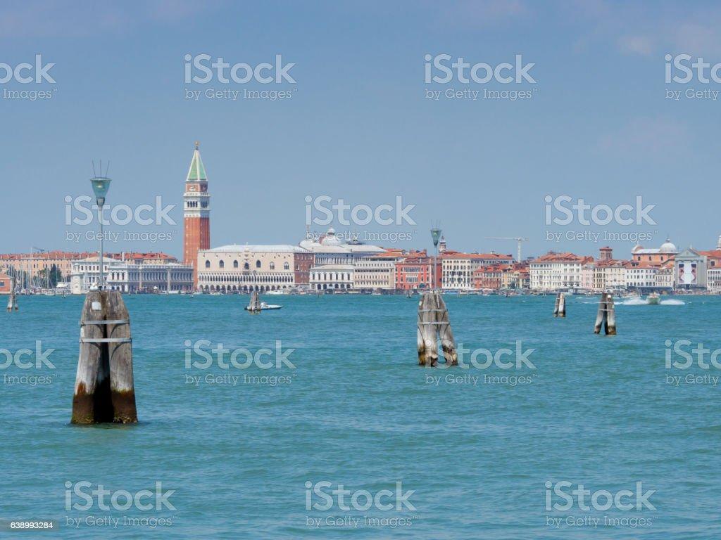 Gateway to Venice Italy stock photo