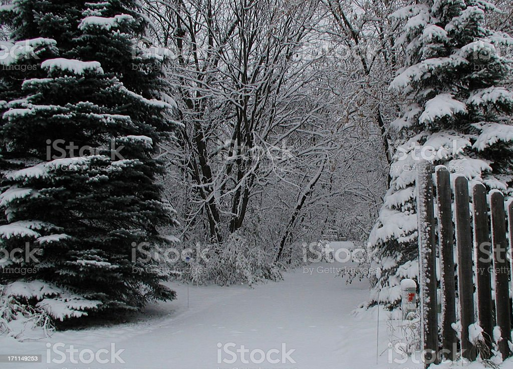 Gateway to Winter royalty-free stock photo
