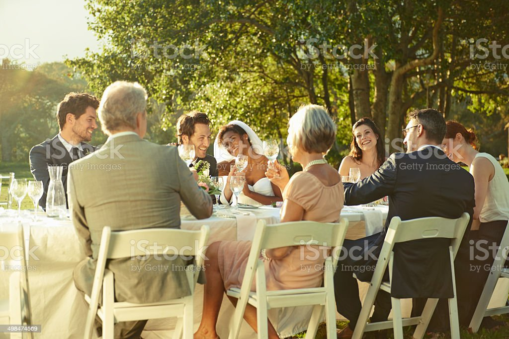 Gathered for a special occasion stock photo