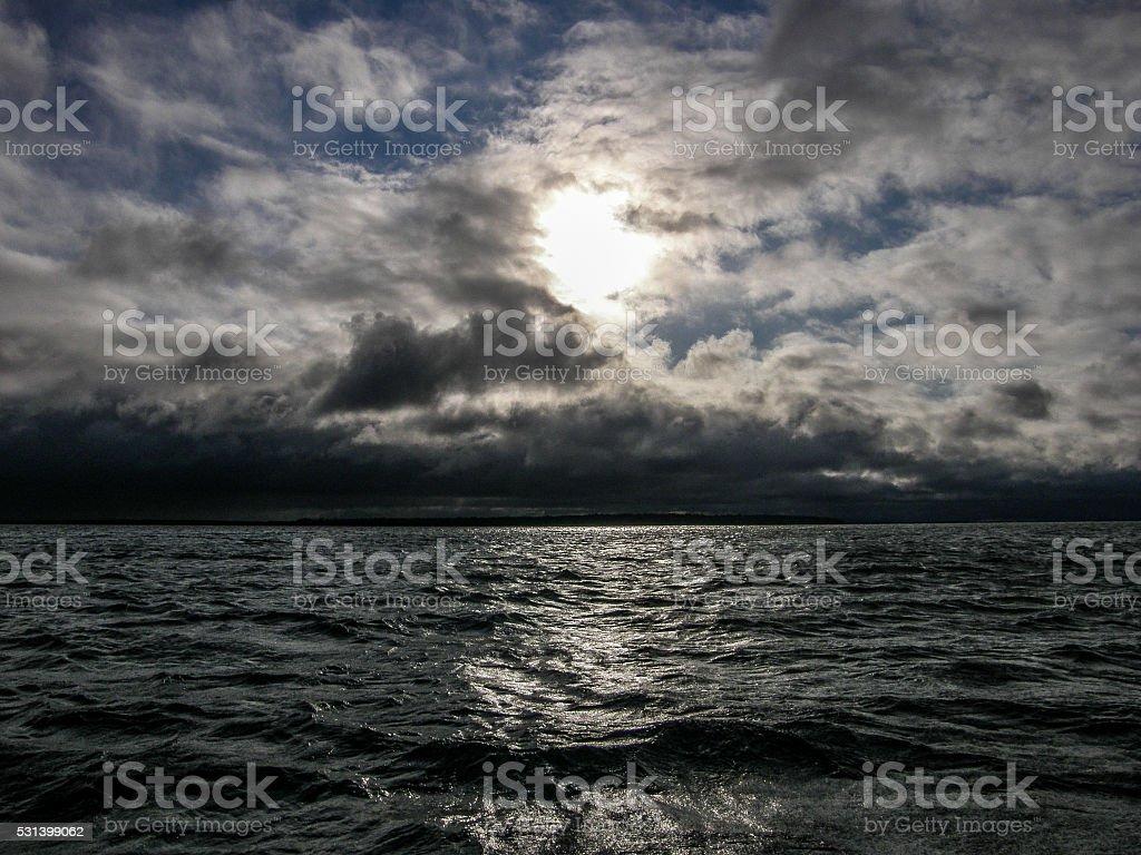 Gathering Storm over Leech Lake stock photo