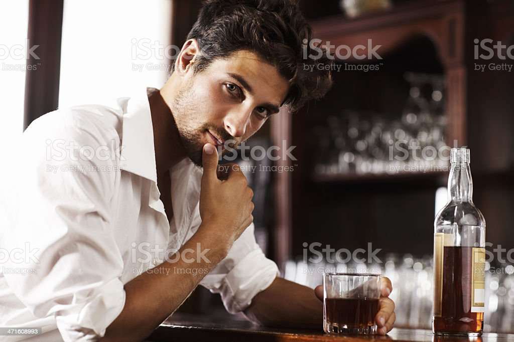 Gathering thoughts after a hectic day royalty-free stock photo