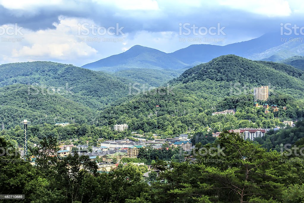 Gatlinburg Aerial View stock photo