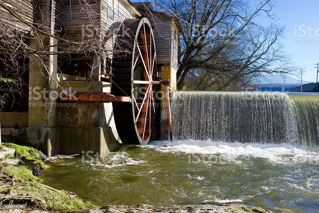 Gatlinburg Tennessee Old Mill stock photo
