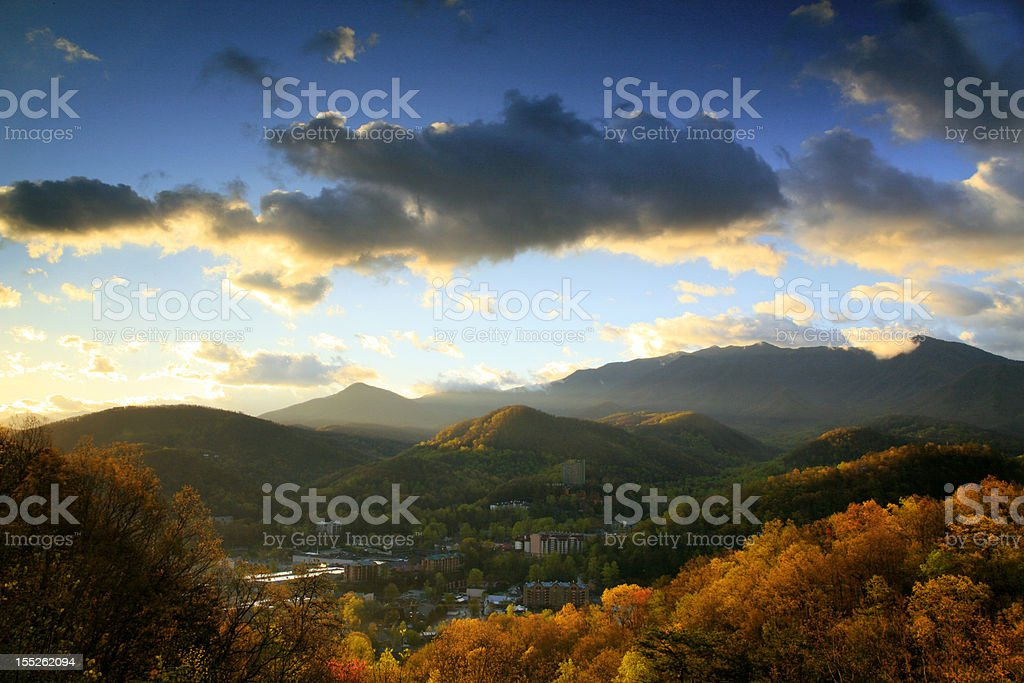 gatlinburg, tennessee stock photo
