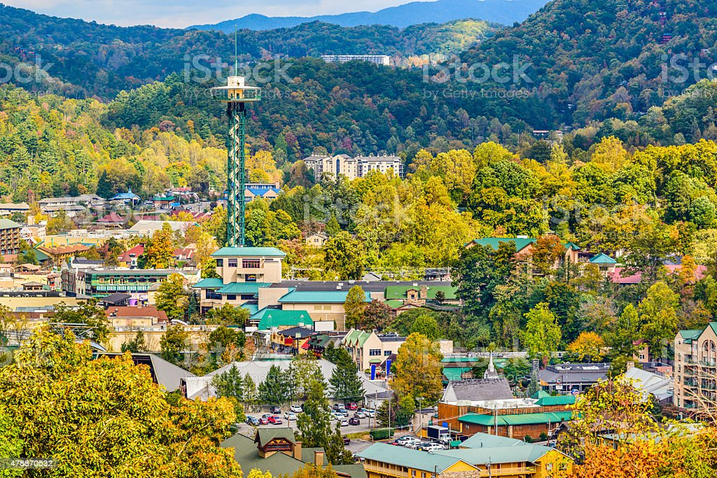 Gatlinburg Tennessee stock photo
