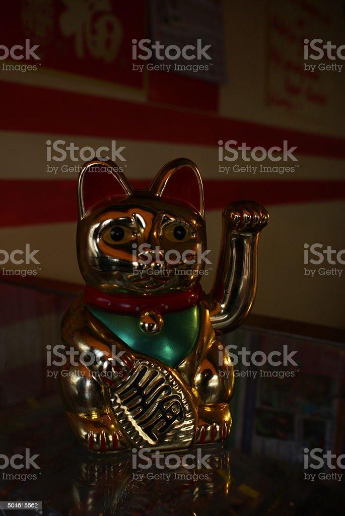 Gato de la suerte stock photo