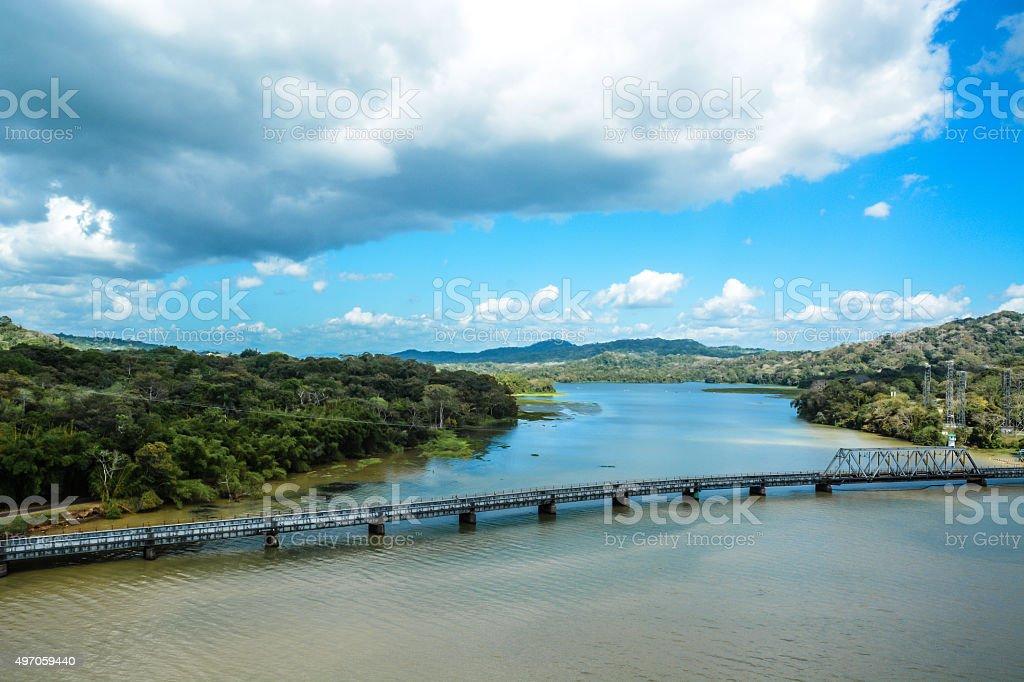 Gatun Lake, Panama stock photo