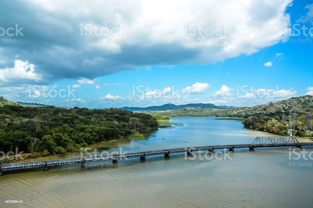 Gatun Lake, Panama stock photo