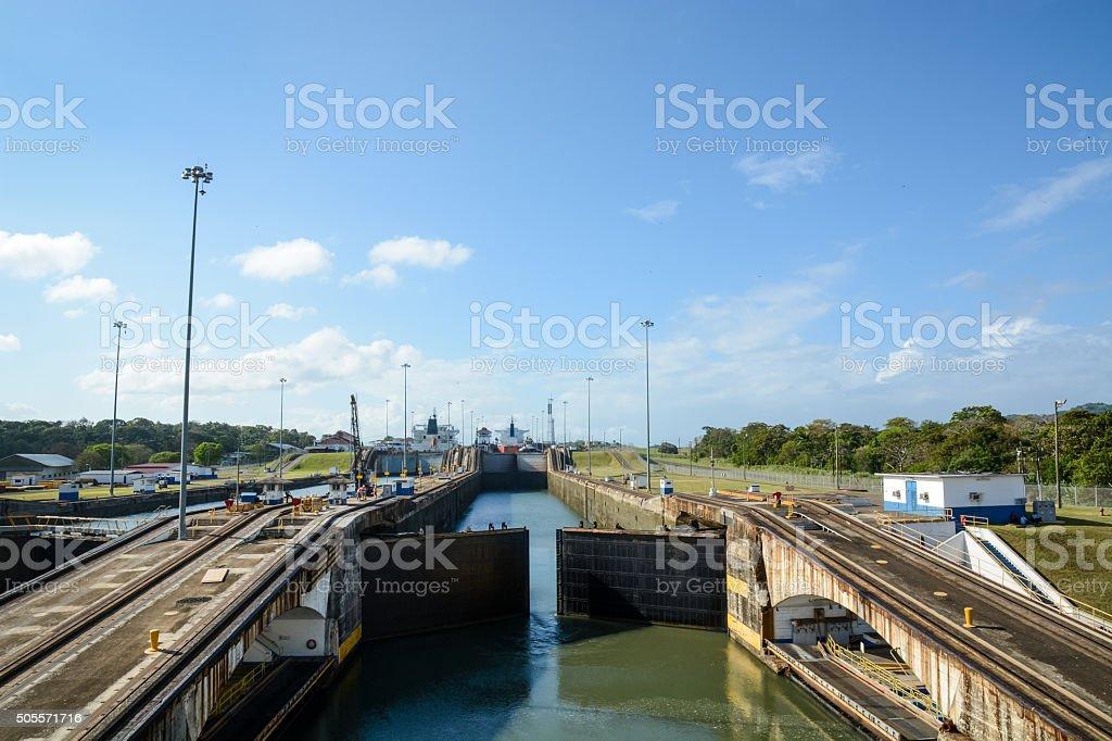 Gatun Lock stock photo