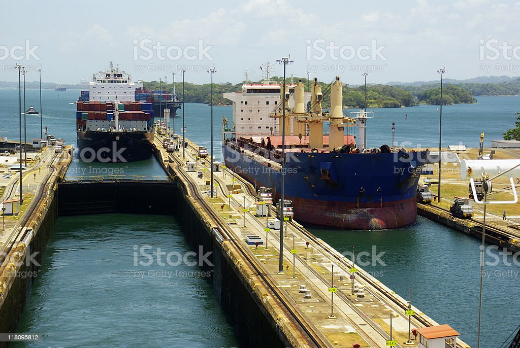 Gatun Locks 2 stock photo