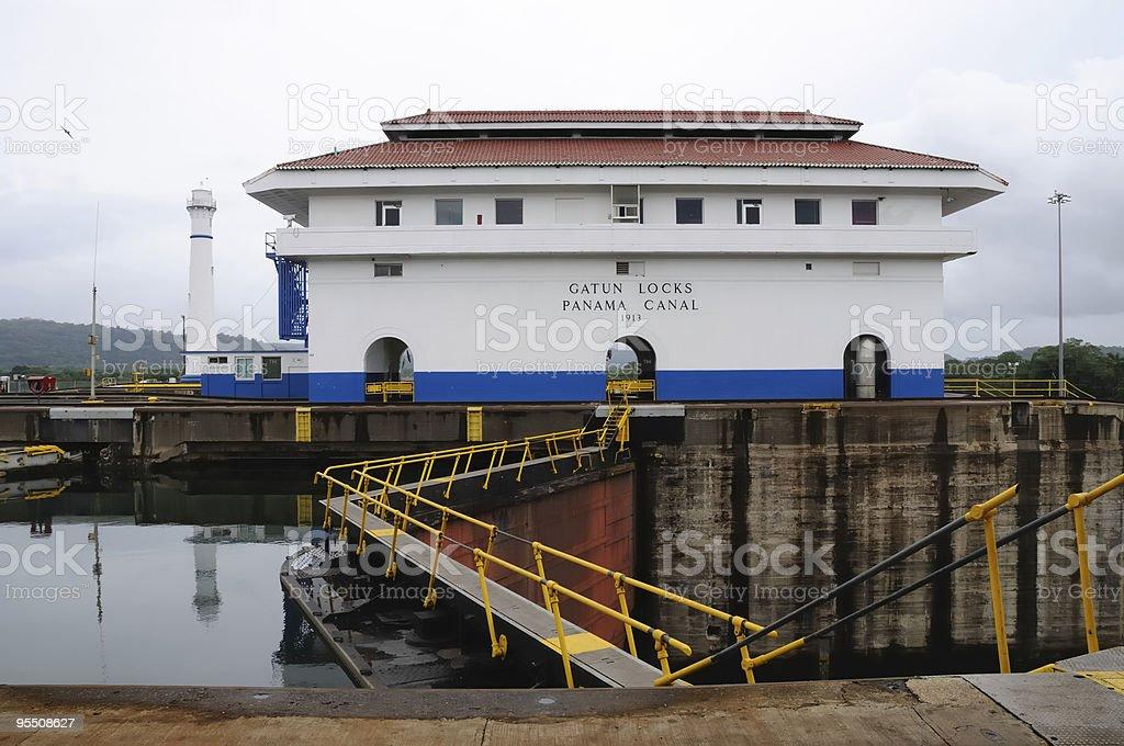Gatun Locks, Panama Canal stock photo