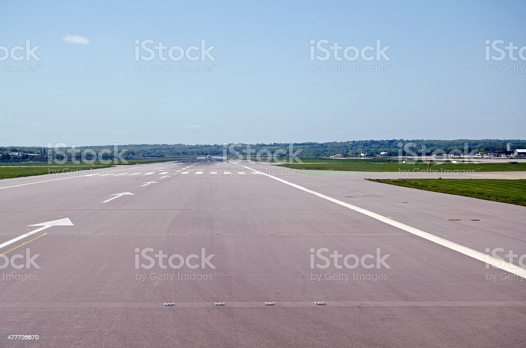 Gatwick Airport Runway stock photo
