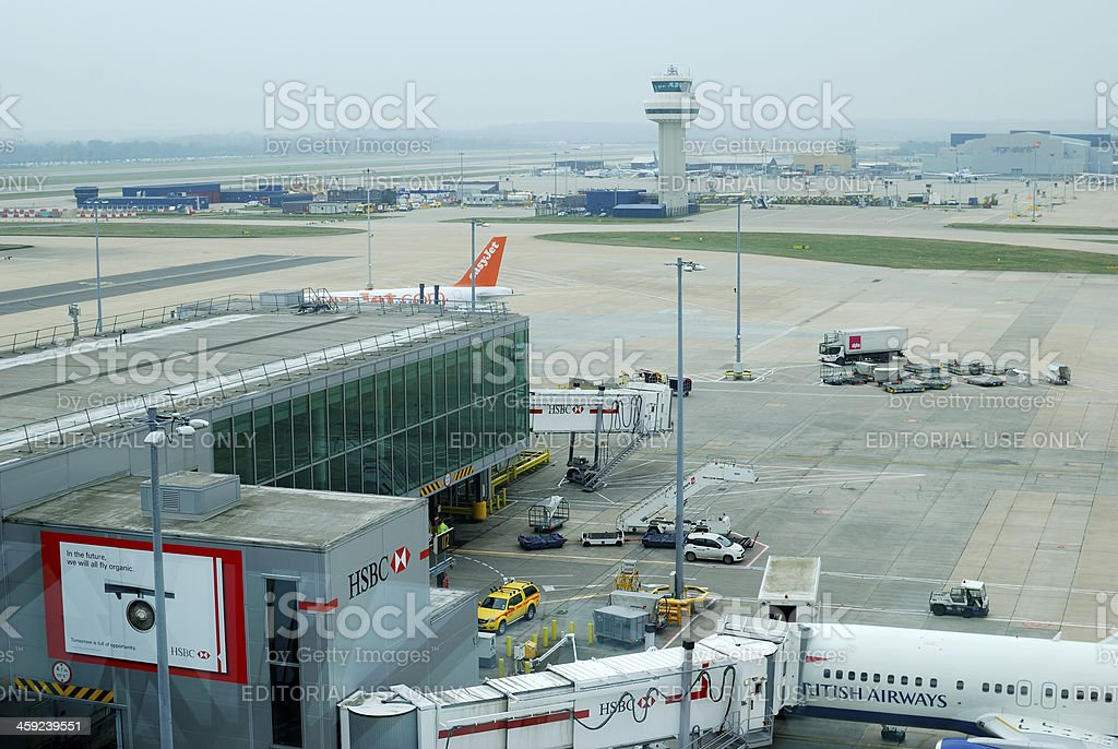Gatwick Airport. Sussex. England stock photo