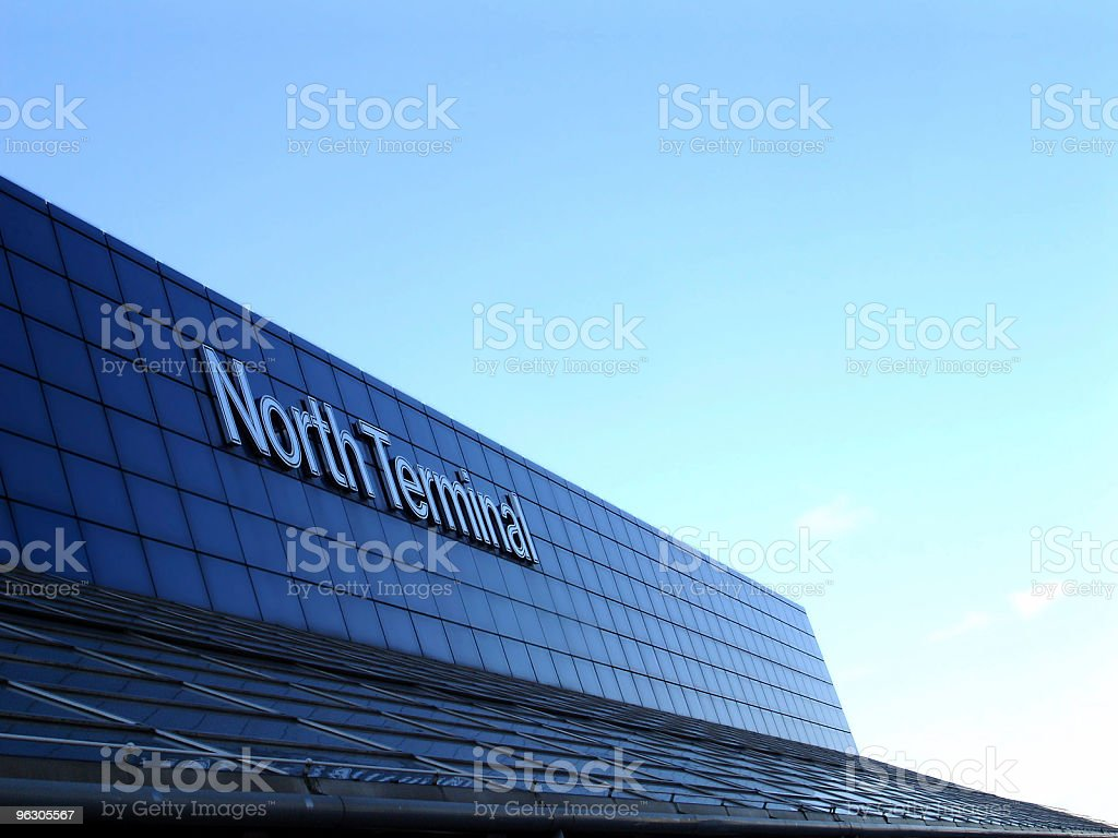 Gatwick Airport Terminal Building, London stock photo
