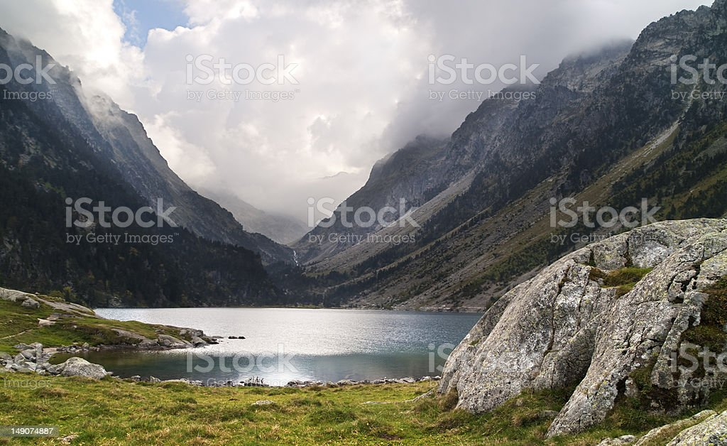 Gaube's lake royalty-free stock photo
