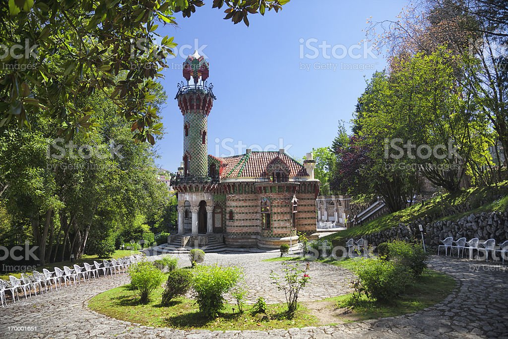 Gaudi Architecture near Santander royalty-free stock photo