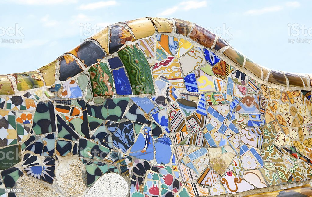 Gaudi Architecture - Park Guell royalty-free stock photo
