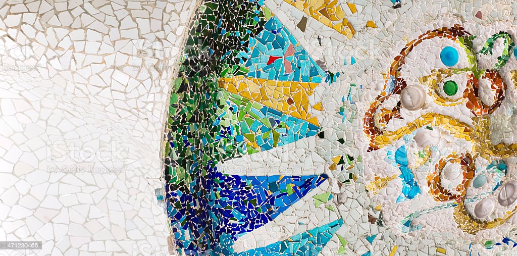 Gaudi mosaic -  Park Güell royalty-free stock photo