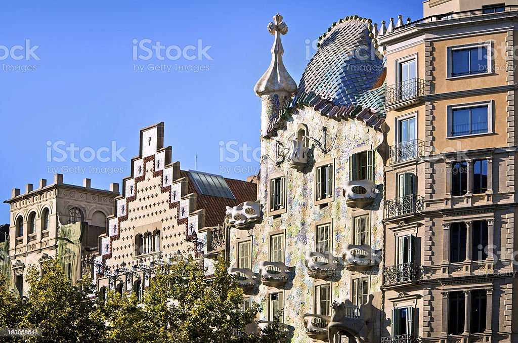 Gaudi's Casa Batllo in Barcelona stock photo