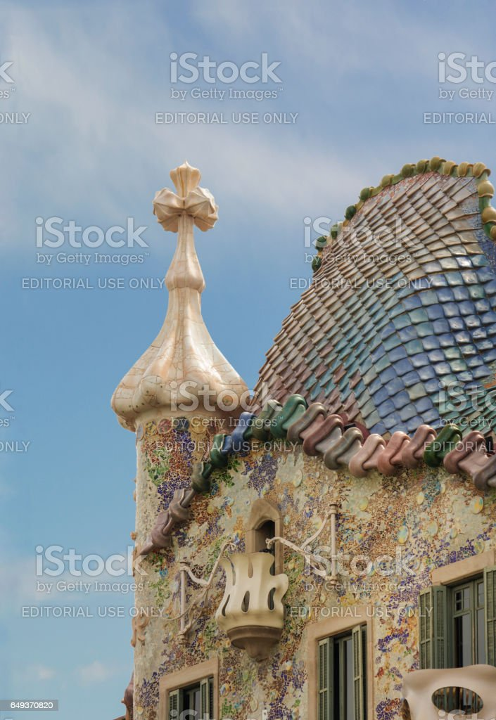 Gaudi's Casa Batllo in Barcelona stock photo