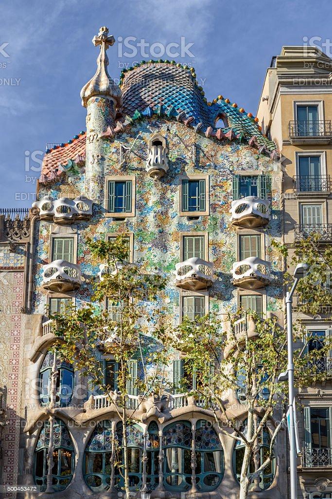 Gaudi's Casa Batllo in Barcelona, Spain stock photo
