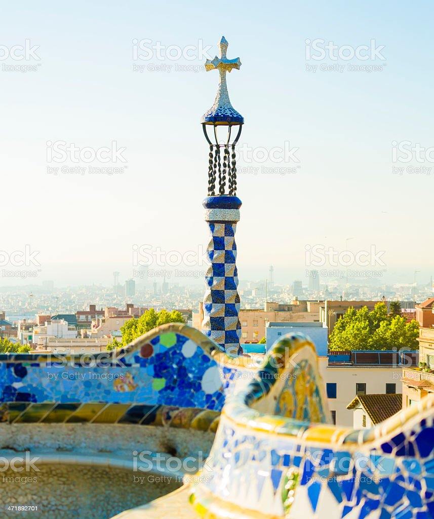 Gaudi's Park Guell stock photo