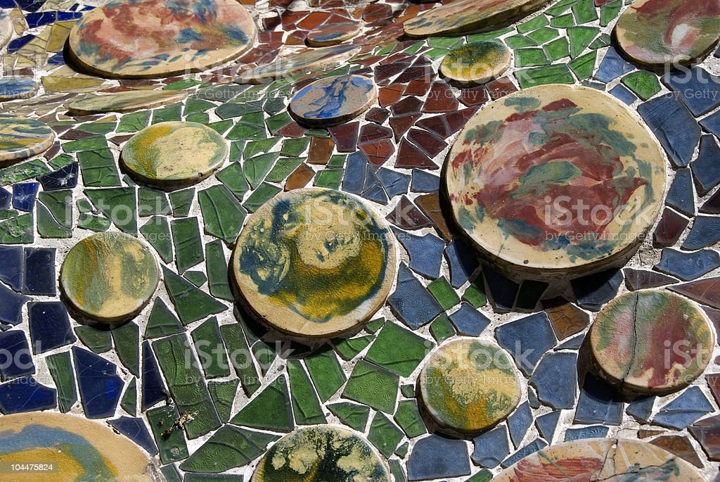 Gaudi's Tiles royalty-free stock photo