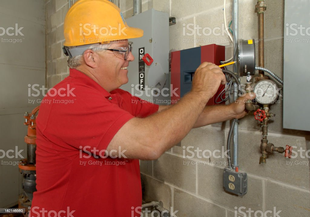 Gauge readings royalty-free stock photo
