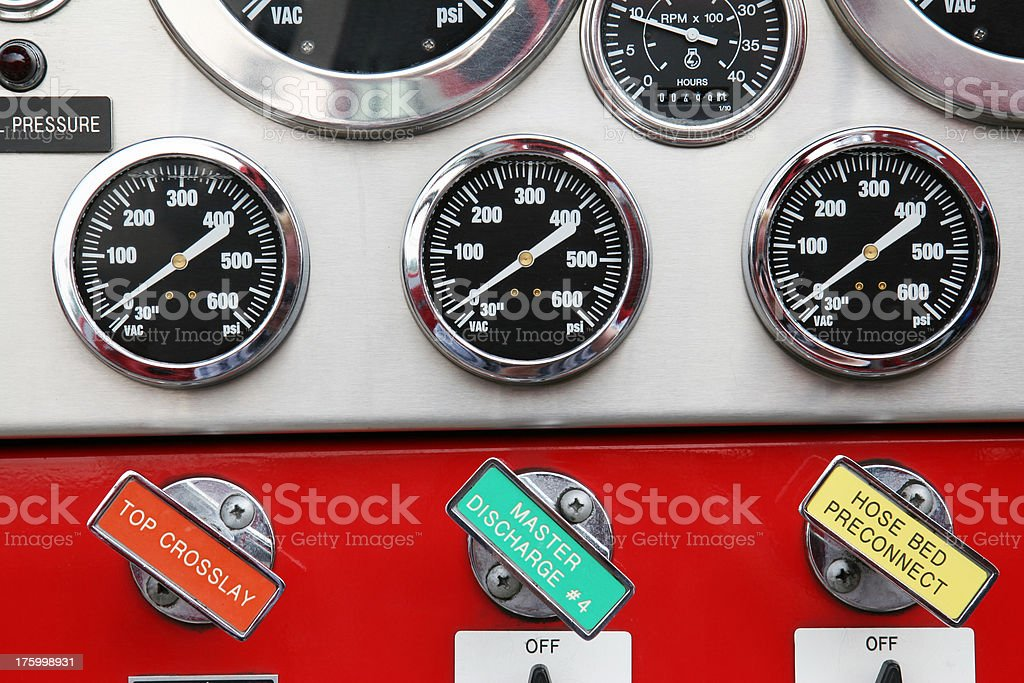 Gauges and Controls 2 stock photo