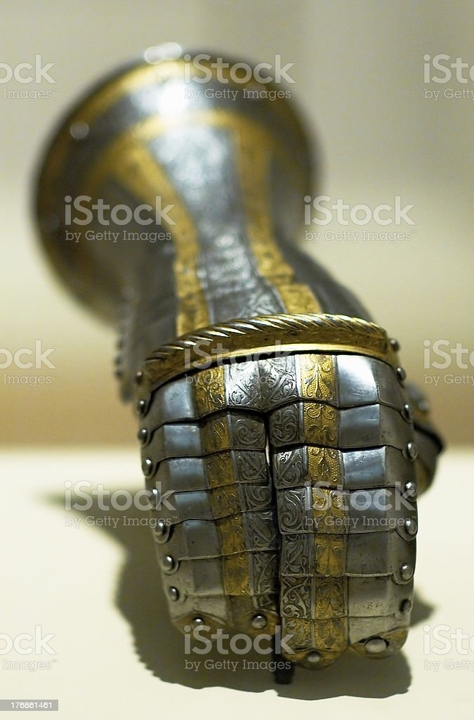 Gauntlet of a knight royalty-free stock photo