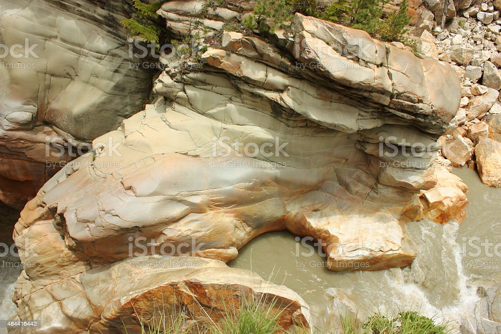 Gaurikund point in Gangotri - River Ganga stock photo