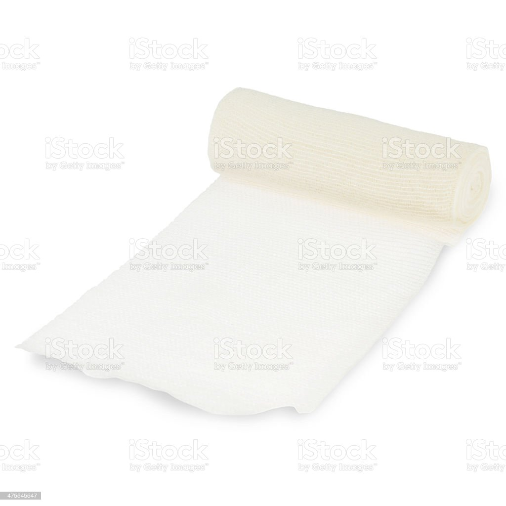 gauze bandage on white stock photo