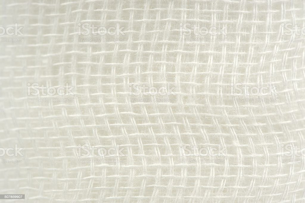 Gauze Bandage Texture Macro stock photo