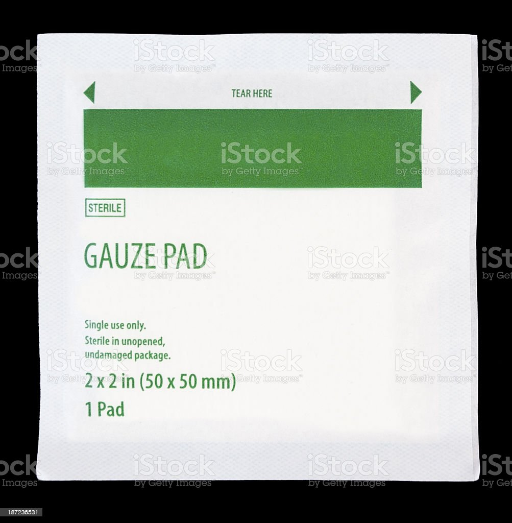 Gauze Pad stock photo