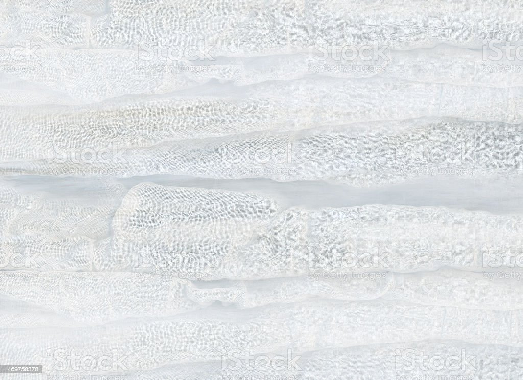 Gauze soft white material stock photo
