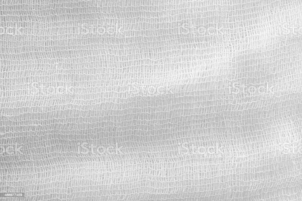 gauze texture of white color stock photo