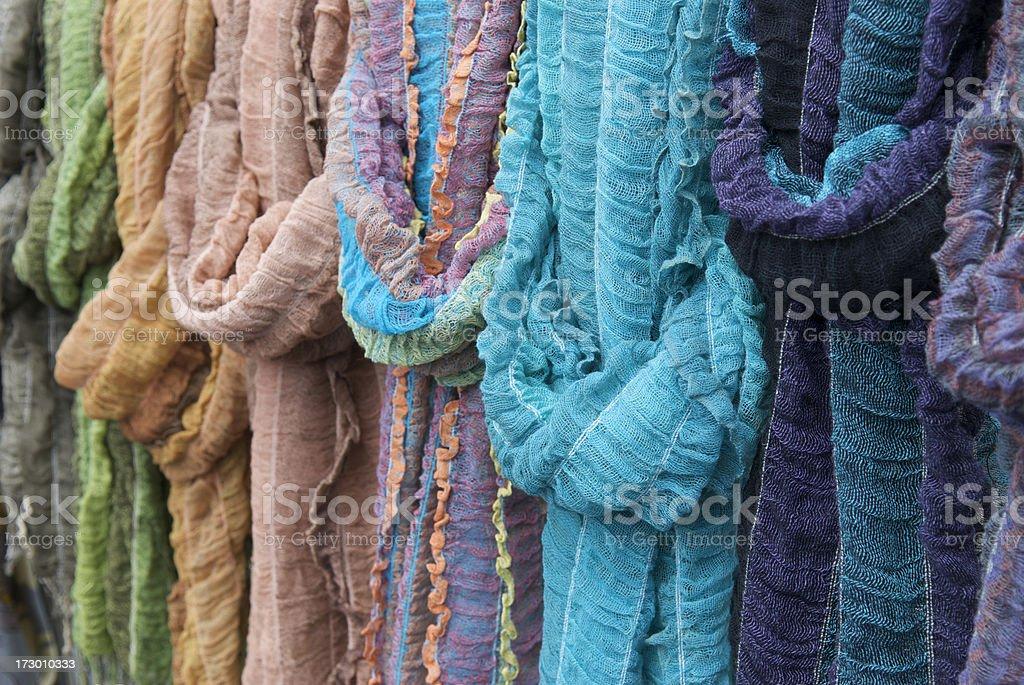 Gauzy Bright Fabrics Background stock photo