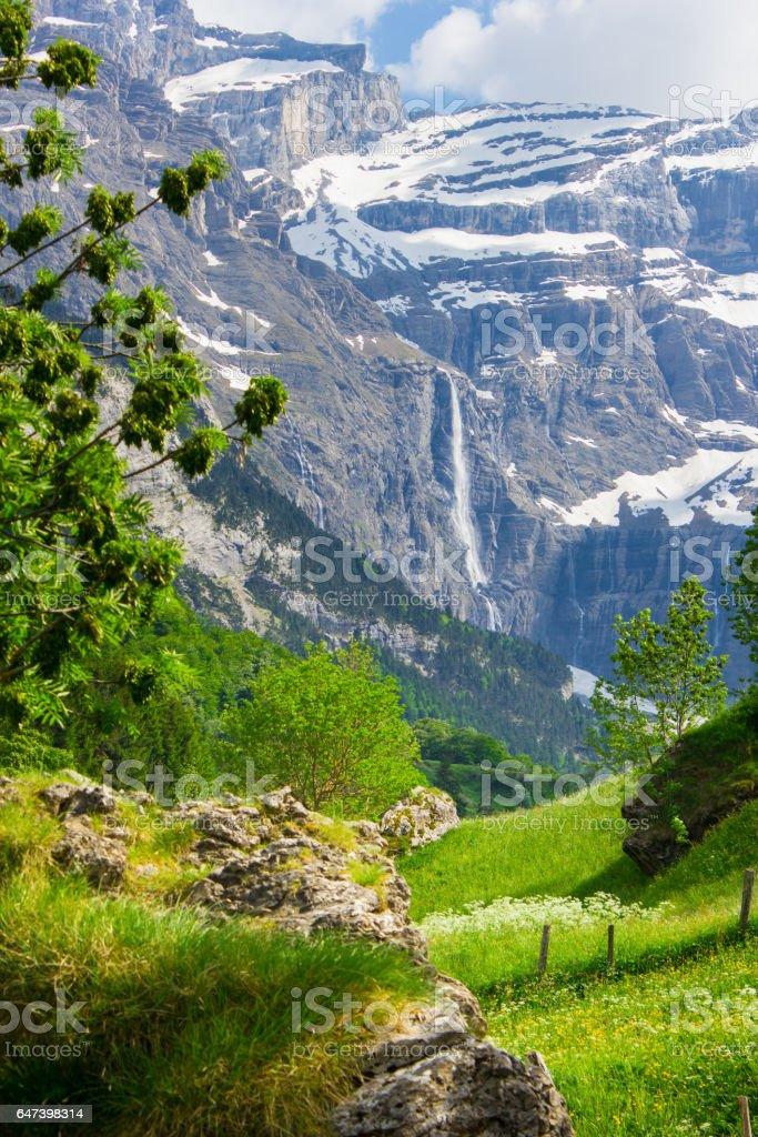 Gavarnie, Waterfall Pyrenees, stock photo