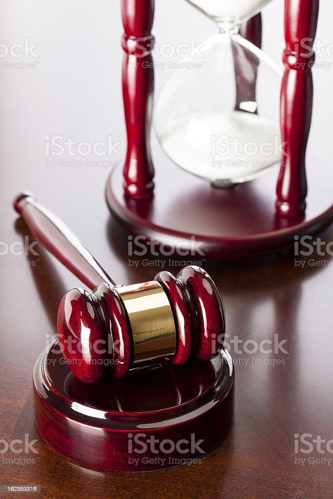 Gavel & Hourglass stock photo