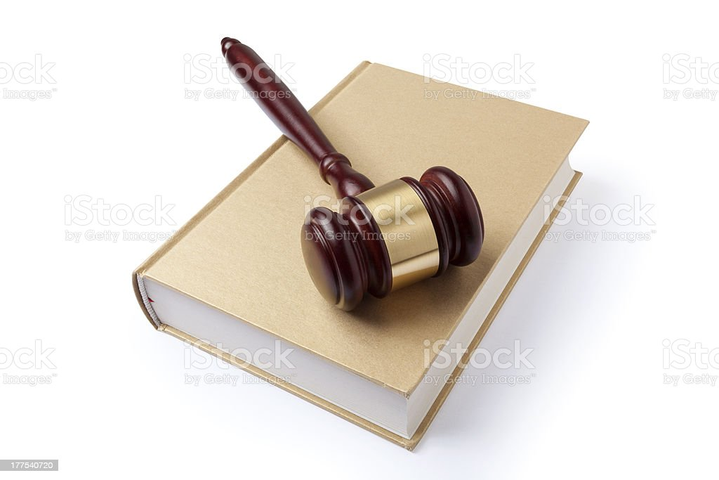 Gavel and book royalty-free stock photo