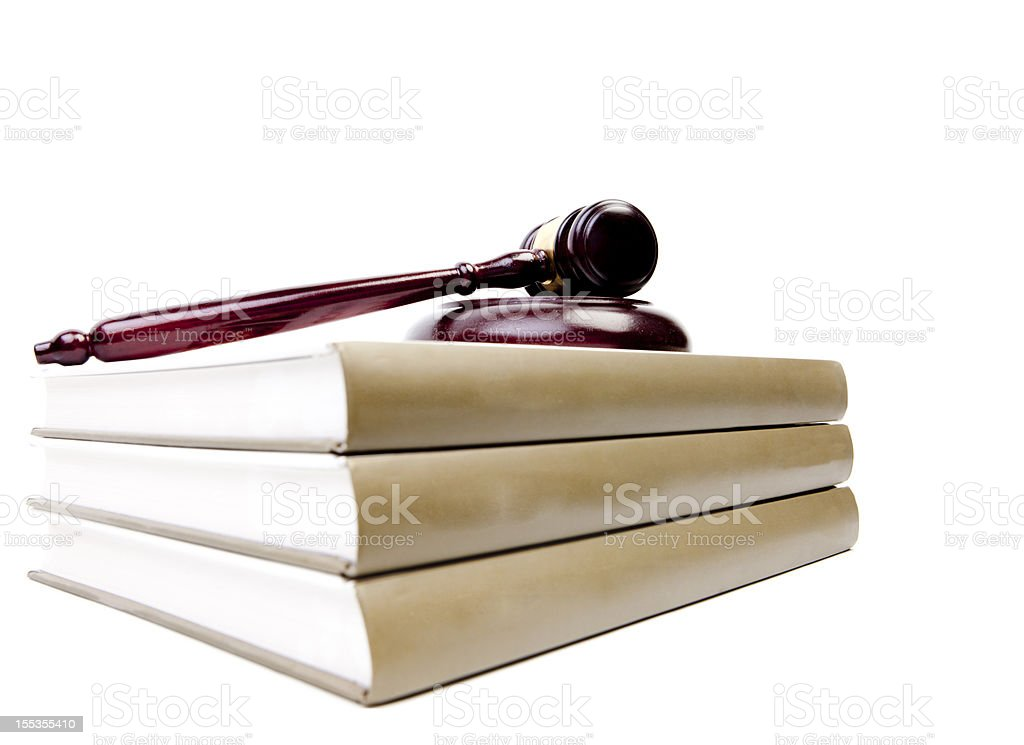 gavel and books stock photo
