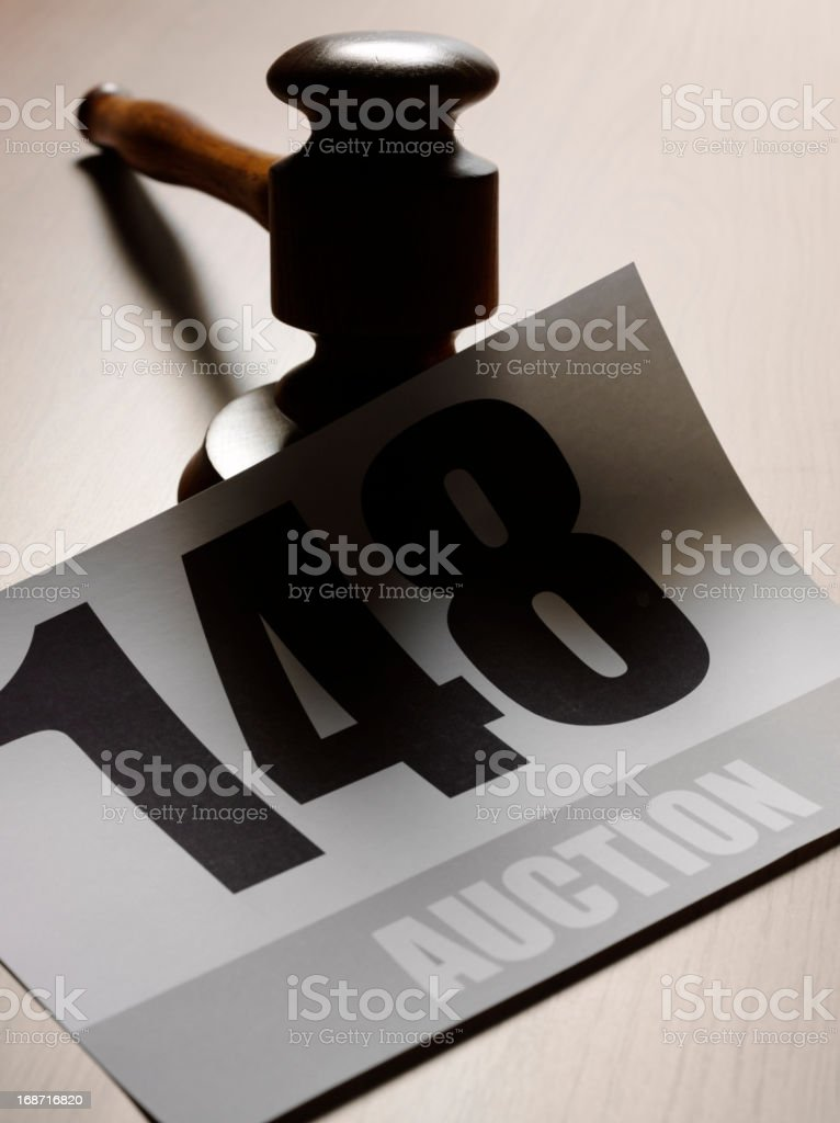 Gavel and Number stock photo