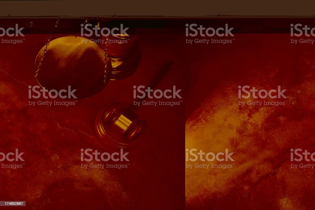 Gavel and Scales Background royalty-free stock photo