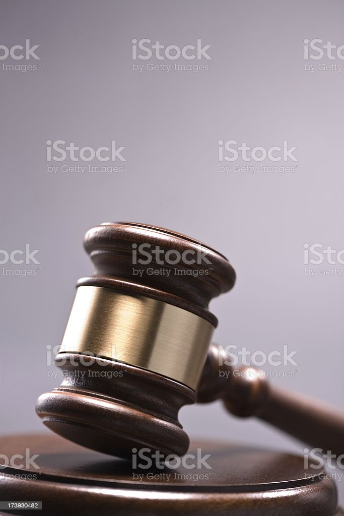Gavel and sound block stock photo