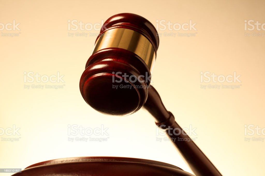 Gavel and Sound Block royalty-free stock photo
