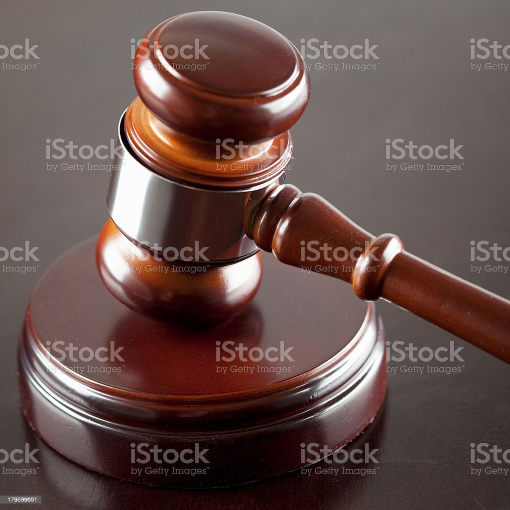 Gavel and Sounding Block royalty-free stock photo