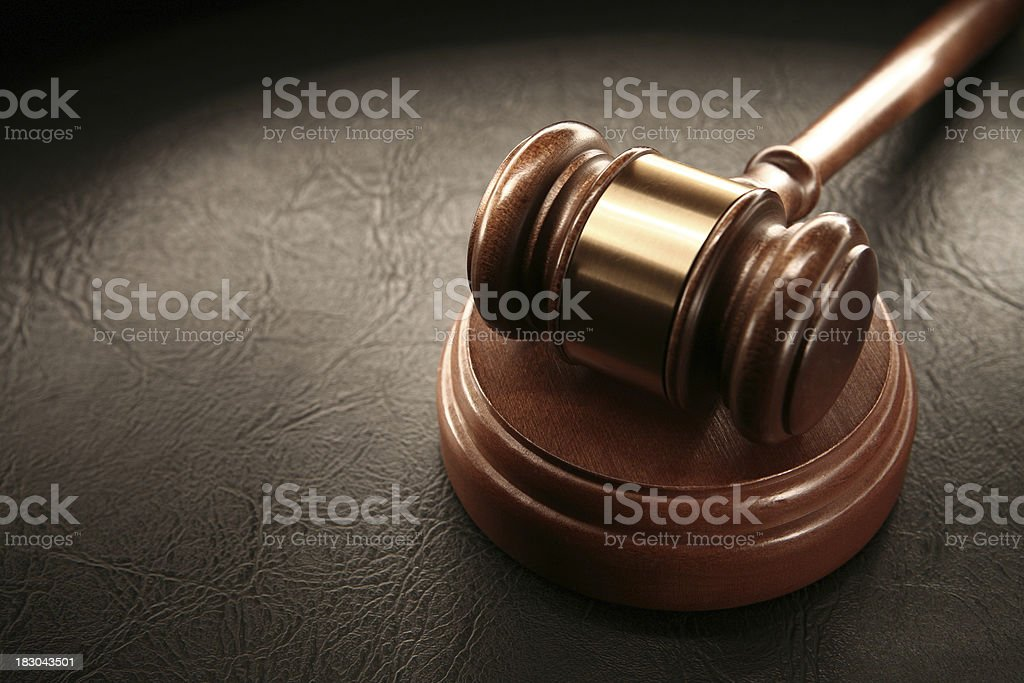 Gavel and Sounding Block stock photo